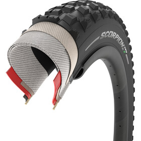 "Pirelli Scorpion E-MTB R Folding Tyre 27.5x2.60"", negro"